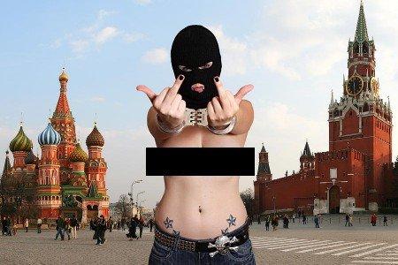 Pussy Riot na Rudém náměstí