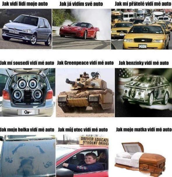 Vnímání vašeho auta různými typy lidí