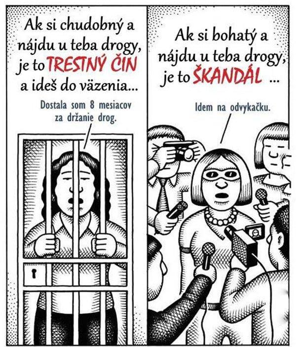 Jaký trest vám hrozí za užívání drog? Právo evidentně není rovné pro každého.