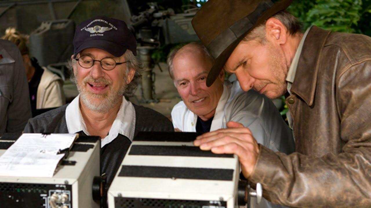 Spielberg a Ford při natáčení