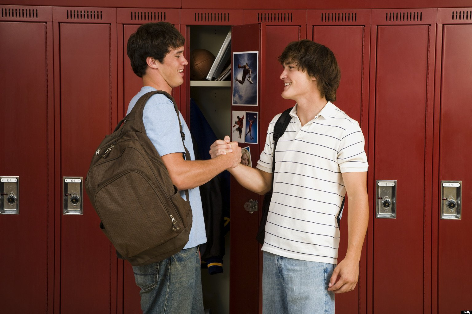Two male High School students