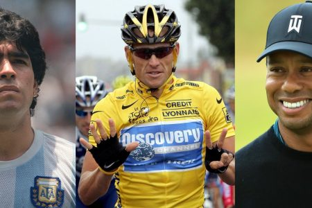 Diego Maradona, Lance Armstrong, Tiger Woods